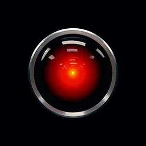 HAL 9000, the artificially intelligent computer system from Stanley Kubrick's film 2001: A Space Odyssey, which celebrated its 50th anniversary this year.