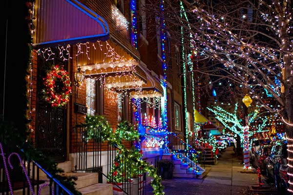 Photo: holiday lights in Philadelphia